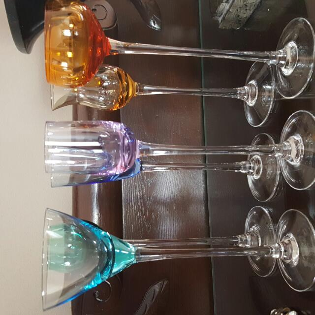 Tall & Fancy Shooter Glasses... Set Of 6 NEW!!!
