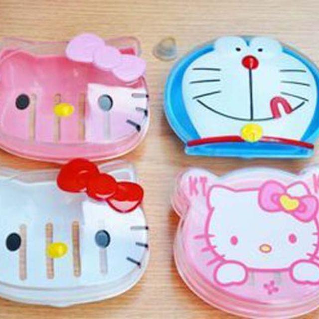 Tempat Sabun Karakter Wadah Motif Hello Kitty Doraemon Warna Lucu