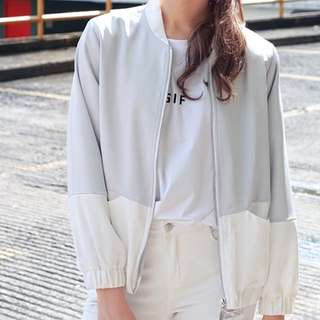 TCL RANNIE JACKET IN SILVER GREY SIZE M