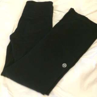 Black LuluLemon Workout Pants