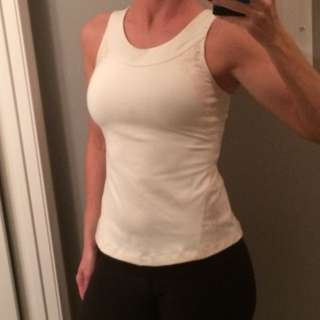 Cream LuluLemon Workout Top