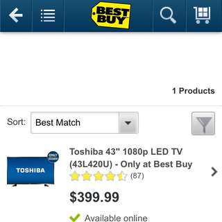 "Toshiba 43"" LED TV"