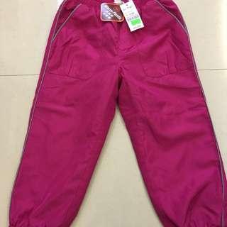 (已減價)Bossini 全新桃紅色絨底運動褲