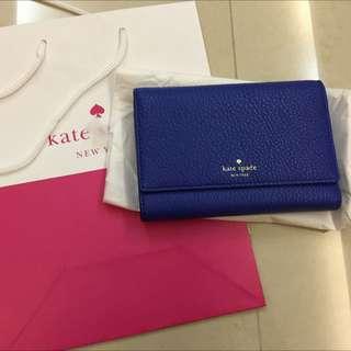 (減價)Kate Spade 全新藍色中銀包