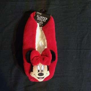 迪士尼米妮室內拖/室內襪