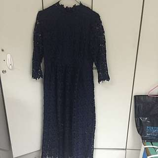 蕾絲長版洋裝