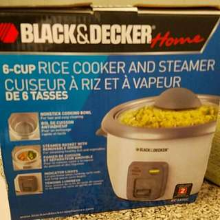 Black And Decker BNIB 6- Cup Ricecooker