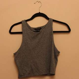 Salt & Pepper fitted Cropped Tee