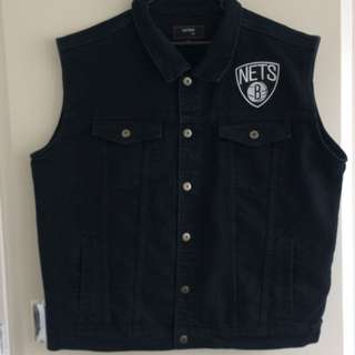 Brooklyn Nets Custom Denim Vest