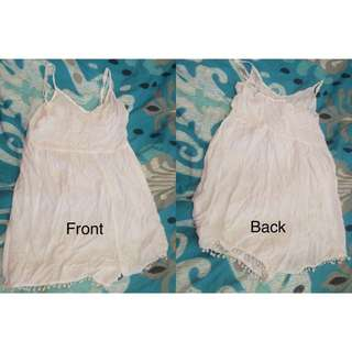White Playsuit Size 8