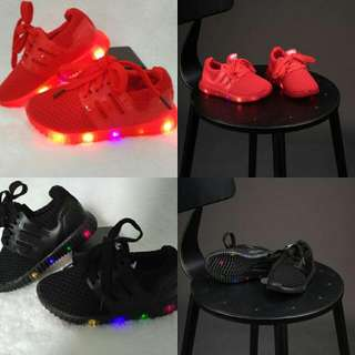 Adidas Yeezy Full Color Led Black N Red