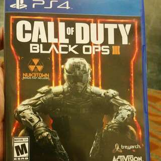 COD: BLack Op's 3 For Sale Or Trade With Xbox One First Person Shooter Game.