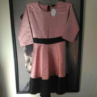 Dress Payung Pink Salmon