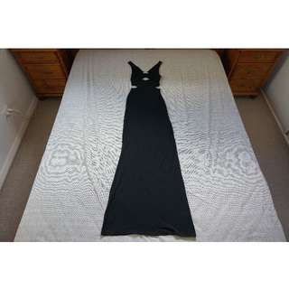 Bec & Bridge Cut-Out Black Maxi Dress Size 6 RRP $180.00