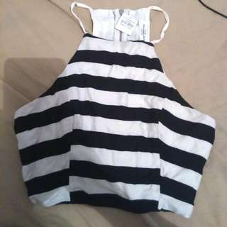 Brand New Abercrombie& Fitch Striped Crop Top