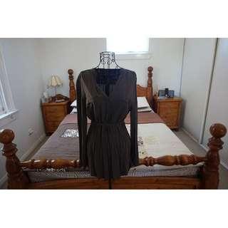 SABA Dark Khaki Button Shirtdress/Tunic Size 10 RRP $129.00
