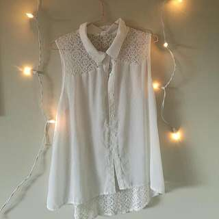 Cute Lace Sheer Top