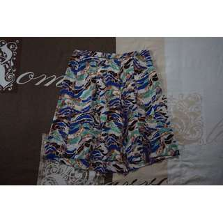 Missoni 100% Silk Multicoloured Skirt Size 12 RRP $780.00