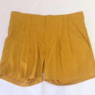 Mustard Hot Pants