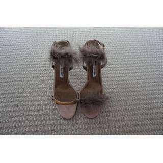 Manolo Blahnik Dusty Pink Leather Suede Heels Size 39 RRP US$353.00