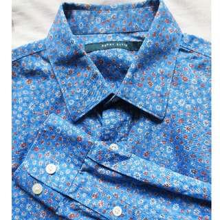 REPRICED! PERRY ELLIS Mini Floral LS Shirt Mens