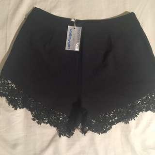 High Waist Black Shorts Sz 12