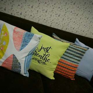 printed throw pillow case set