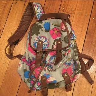 Bluebird floral backpack-