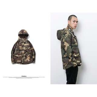 【F32】重磅迷彩軍裝外套 防風 保暖 硬挺 新款 秋冬 男 連帽 夾克 促銷 特價