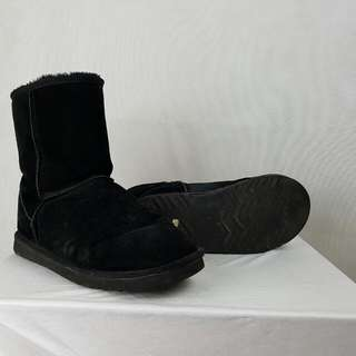 Ugg Boots Mens Aussie Lands Size 10 Black