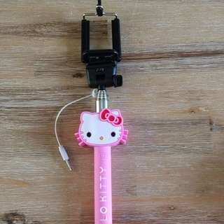 Selfie Stick Pink Hello Kitty