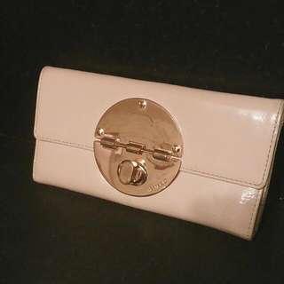 Mimco Pink & Rose Gold Turnlock Wallet