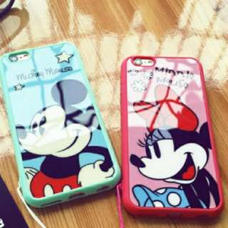 iphone6 買一送一 卡通圖案 迪士尼 米奇米妮 手機殼