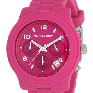 Michael Kors MK5296 Pink Rubber Chronograph