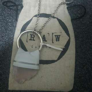 Crystal Necklace From Raw Crystals
