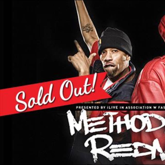 1 X Ticket Sold Out Show In Melbourne Method Man Red man