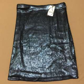 Oasis Sequined Pencil Skirt