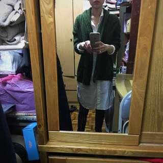 質感綠 韓版大牌落肩外套