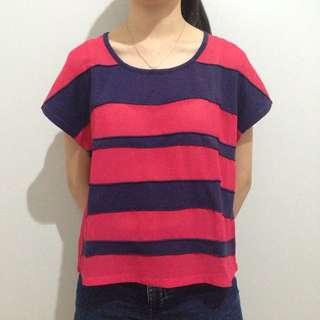 Rose Pink Stripes Top
