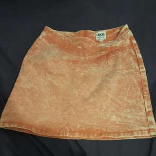 Asos Denim Orange A-line Skirt
