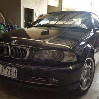 for sale is a BMW 330c e46i convertible it's got a brand new roof a 2003 model roof still registered to the end of the year in excellent conditiongreat for summercall me on 0four232two5three85