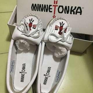 白色 莫卡鞋 9.5成新