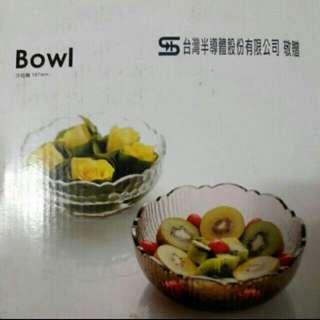 水晶玻璃沙拉碗×1
