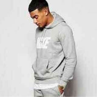 Grey NIKE Hoodie Sweater Jacket for Joggers / Jogging with Pockets for Men