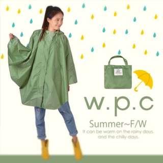 斗篷式雨衣/風衣 墨綠 時尚兼防水 適合機車族穿呦