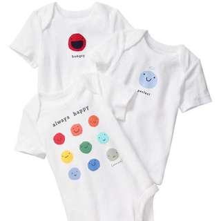 NEW Gap Emoji Bodysuit (3-pack)