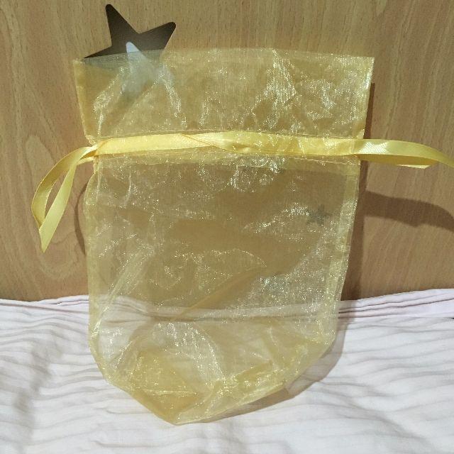 紗質束口袋(黃)