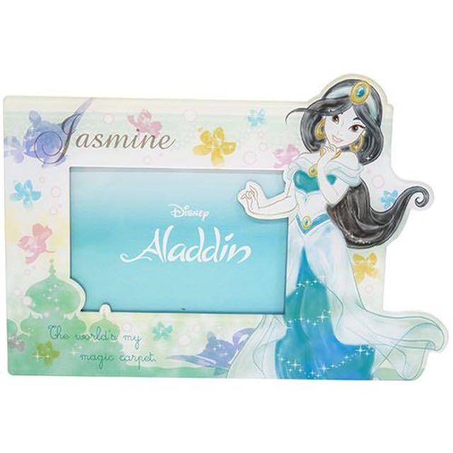 預購 阿拉丁茉莉公主磁鐵兩用相框日本代購正版迪士尼禮物