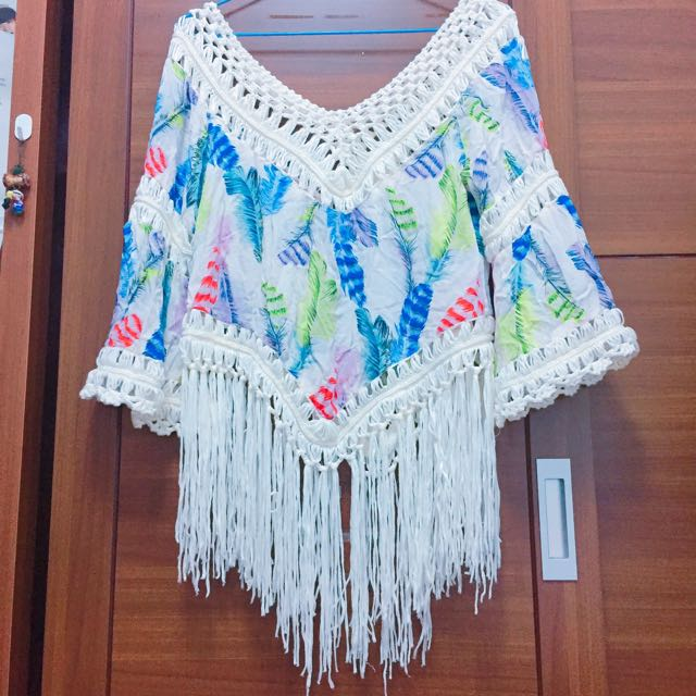 ⬇️降價㊗️波西米亞流蘇 罩衫 上衣