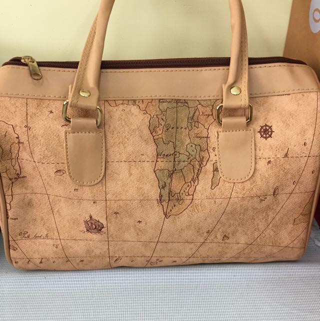地圖 手提包 小旅行袋 側背包 高質感 團購另有優惠喔